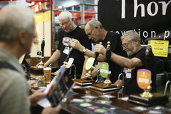Brewers of The Great British Beer Festival Royalty Free Stock Image