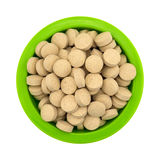 Brewer's yeast nutritional supplement in a green bowl Royalty Free Stock Image