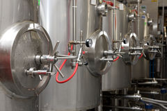 Brewery. Modern interieur of a brewery Royalty Free Stock Image