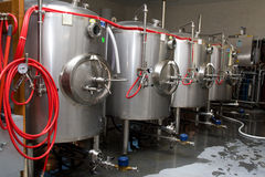 Brewery. Modern interieur of a brewery Stock Image