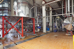 Brewery. Brewing production - cooking tank, the lower part, the interior of the brewery, nobody Stock Photo