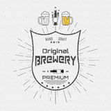 Brewery badges logos and labels for any use Stock Photos
