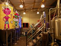 Brewsky, Bangalore. This is a brewery in Bangalore stock photography