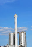 Brewery beer processing silos Royalty Free Stock Image