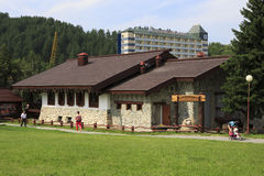 Brewery in Belokuriha resort. Altai. Royalty Free Stock Photo