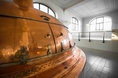 A brewery building interior Stock Photos