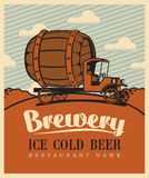 Brewery car Royalty Free Stock Images