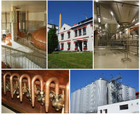 Brewery collage Stock Images