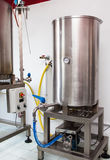 Brewery detail. Industrial detail of a small brewery dedicated to premium production of beer Royalty Free Stock Photos