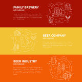 Brewery Flyers Royalty Free Stock Image
