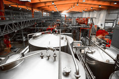 Brewery interior, equipment Royalty Free Stock Photos