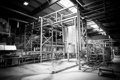 Brewery interior Royalty Free Stock Photography