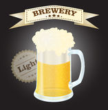 Brewery light beer Royalty Free Stock Images