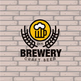 Brewery Logo. Vector Illustration Royalty Free Stock Images