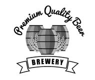 Brewery premium quality beer barrels wooden vintage. Illustration eps 10 Stock Images