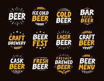 Brewery set logo, label, element. Craft beer emblem, template, symbol. Vector illustration. Brewery set logo, label, element. Craft beer emblem template symbol Stock Photo