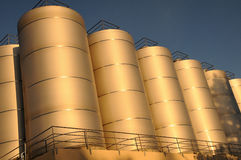 Brewery Storage Tanks Stock Image