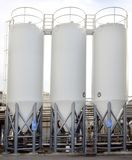 Brewery Tank Silos stock photo