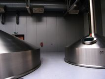 Brewery tanks Stock Image