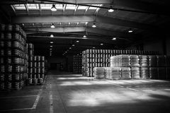 Brewery warehouse Royalty Free Stock Photo