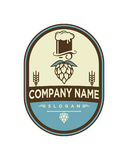 Brewing beer Logo Template vector icon design Royalty Free Stock Images