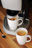 Brewing Coffee In The Coffee Machine Royalty Free Stock Images