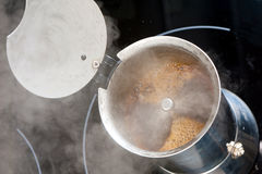 Brewing coffee Stock Photo