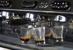 Brewing Espresso coffee royalty free stock image