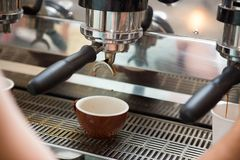 Brewing Espresso Stock Images