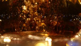 Brewing leaf tea in a transparent glass kettles. Close ups stock video footage