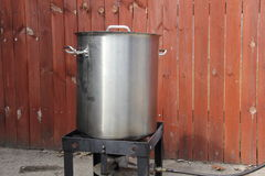Brewing pot and burner Royalty Free Stock Image