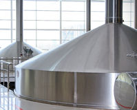 Brewing production - mash vats Stock Images