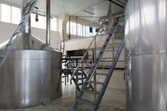 Brewing production - mash vats Royalty Free Stock Image