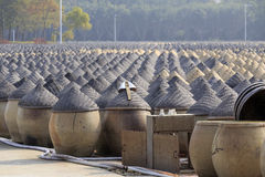 Brewing soy sauce. In amoy city, china Stock Photo