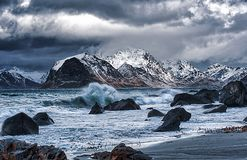 Brewing storm - bad weather is coming royalty free stock images