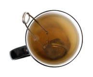 Brewing tea. In a cup Stock Photos