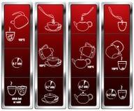 Brewing tea_scheme stock illustration