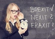 Brexit做 谁ist下个概念 免版税图库摄影