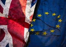 Brexit旗子艺术 库存图片