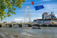 Brexit概念在伦敦 库存照片