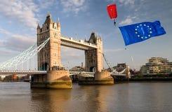 Brexit概念在伦敦 免版税图库摄影