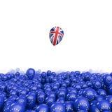 Brexit气球飞行 向量例证