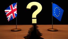 Brexit英国欧盟问号概念 库存图片