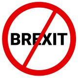 Brexit被取消并且暂停 向量例证