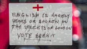 Brexit通知 免版税库存照片