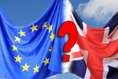 Brexit με την άγνωστες ημερομηνία και τη λήξη στοκ φωτογραφία με δικαίωμα ελεύθερης χρήσης