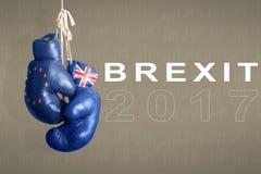 Brexit, σύμβολο του δημοψηφίσματος UK εναντίον της ΕΕ Στοκ εικόνα με δικαίωμα ελεύθερης χρήσης