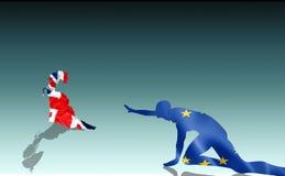 Brexit: иллюстрация сноба Великобритании покидая отчаянный EC Стоковые Изображения RF