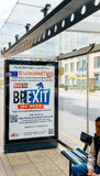 Brexit плакат рекламы кино Стоковое фото RF
