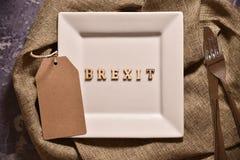 Brexit слова на плите стоковое изображение